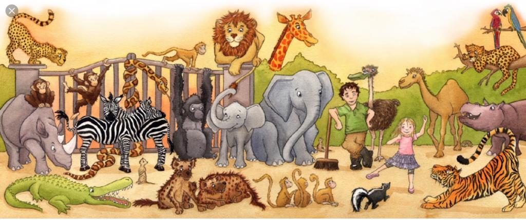 Открытки, картинки зоопарка для детей