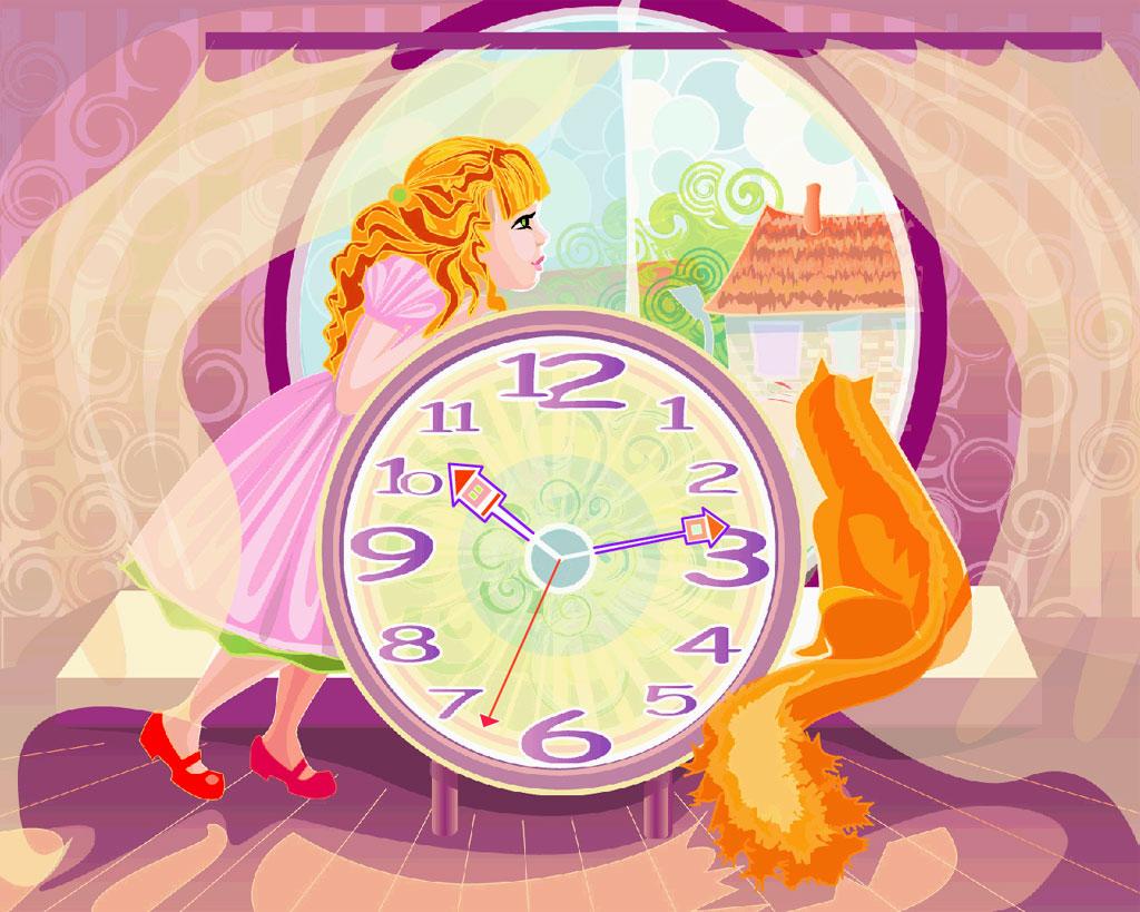 Барашки, рисунок чудесные часы