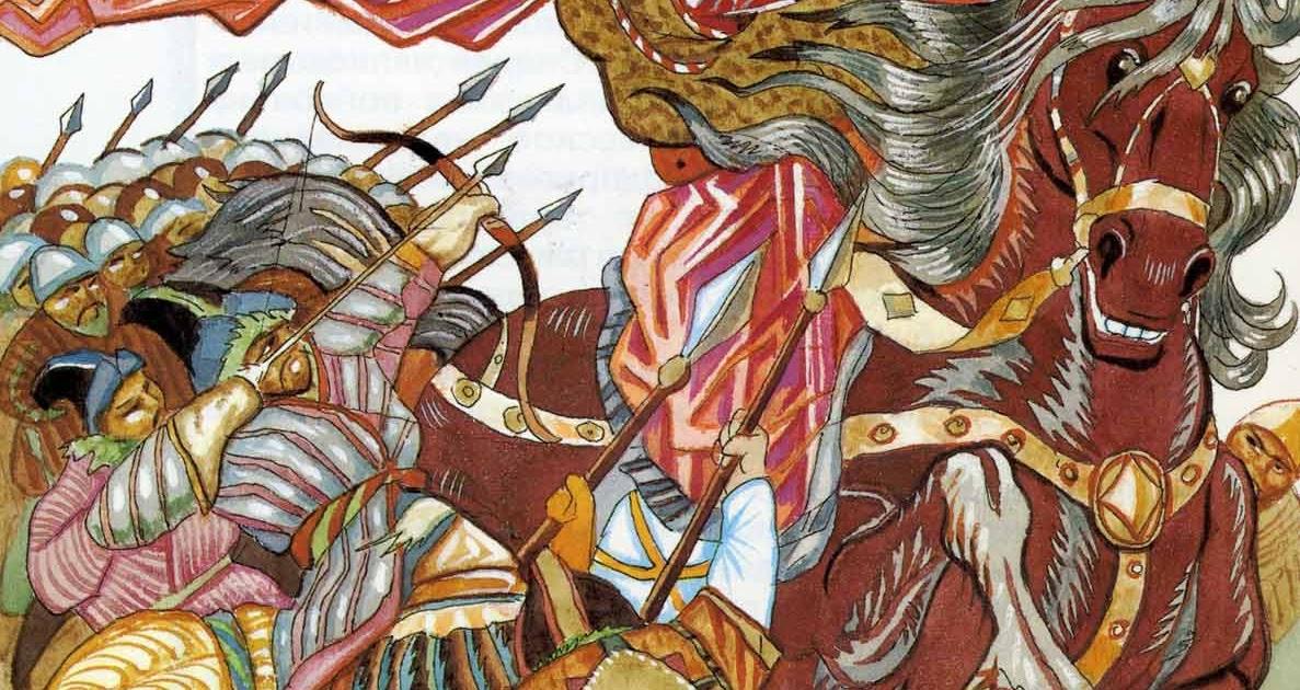 Картинка к былине илья муромец и калин царь